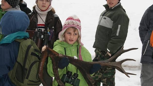 Když král lesa minulý rok shazoval paroží, viděly to v přímém přenose děti ze Strážova na Klatosku