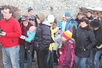 Zimní prohlídky na hradě Kašperk.