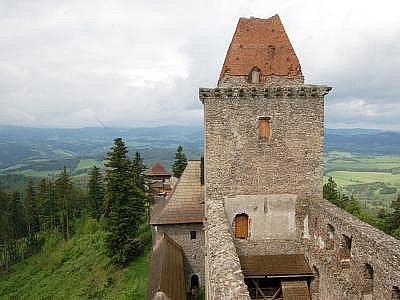 Ilustrační foto, Kašperk, západní věž