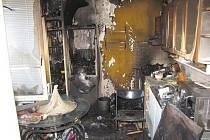 Pondělní požár bytu v Nýrsku