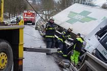 Nehoda kamionu u Sušice.