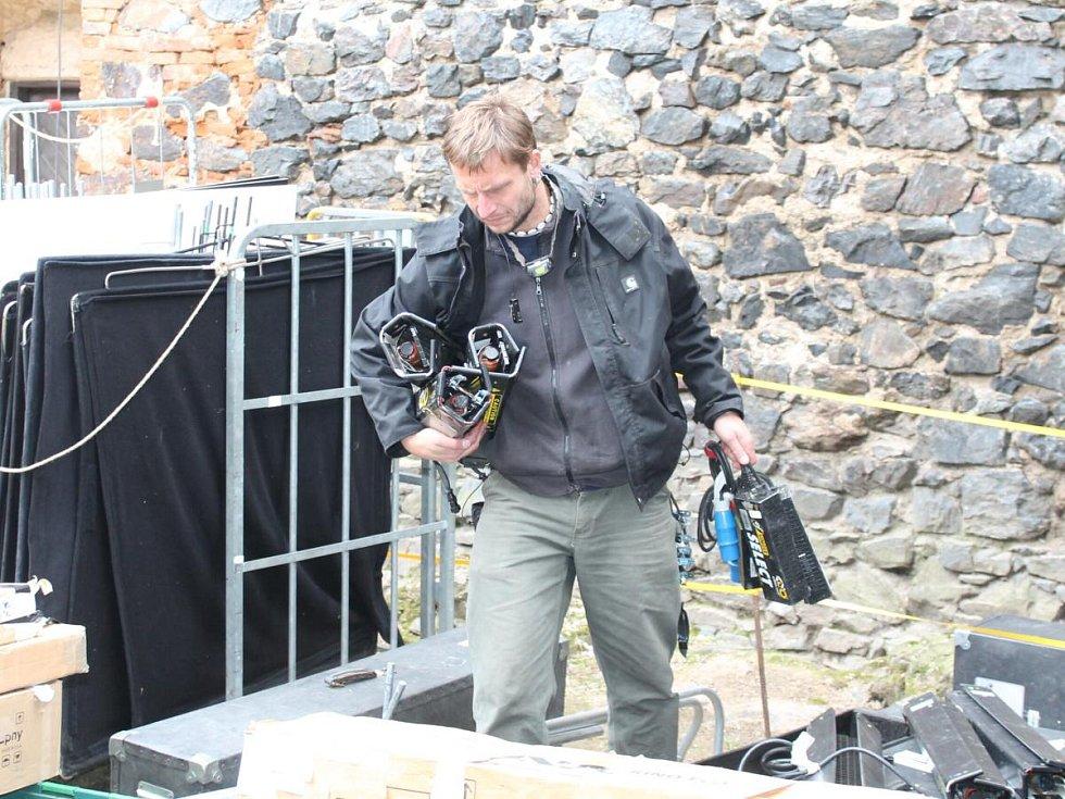 Natáčení televizního seriálu Borgia na hradě ve Švihově