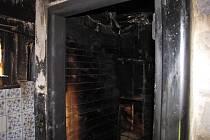 Požár chatky u Klatov.