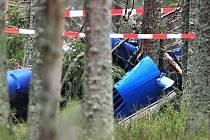 Nehoda vrtulníku na Modravě.