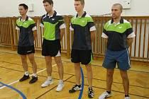 Družstvo KST Klatovy. Na snímku jsou zleva Daniel Peckert, Matěj Kovářík, Miroslav Jehlík, Daniel Javorský.