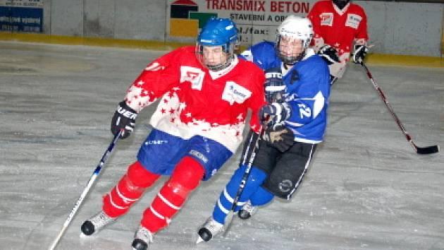 Starší žáci HC Klatovy podlehli v minulém utkání hokejové ligy doma  Vimperku 1:3