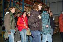 Exkurze školáků v klatovské firmě Lorenc