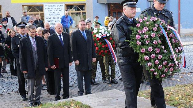 Město Klatovy uctilo 101. výročí vzniku samostatného Československa