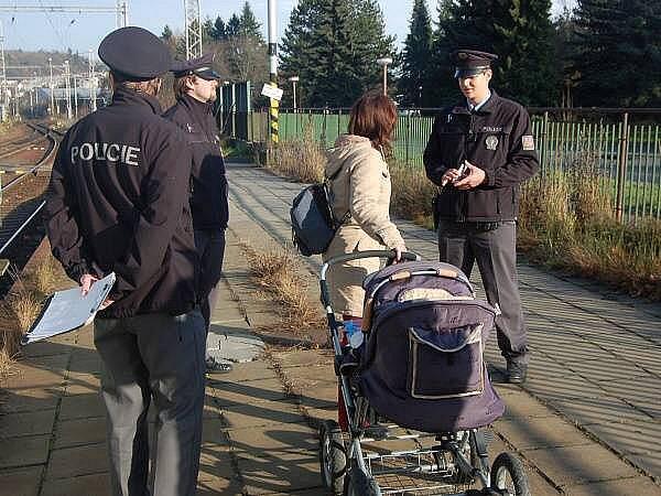 Policejní kontroly na klatovském nádraží