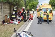 Nehoda v Hradešicích.