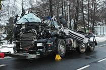 Nehoda kamionu v Soběticích
