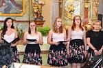 Koncert v kostele v Myslívě.