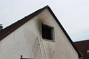 Požár domu v Bezděkově.