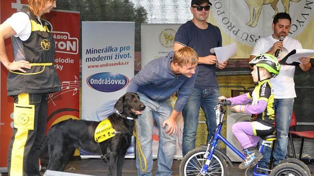 Honzík Kosíř přebírá svého asistenčního psa.