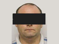 Nebezpečný zločinec Martin B. (na snímku) byl zadržen na Sušicku.