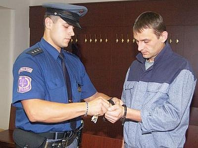 Michal Vágner u klatovského soudu
