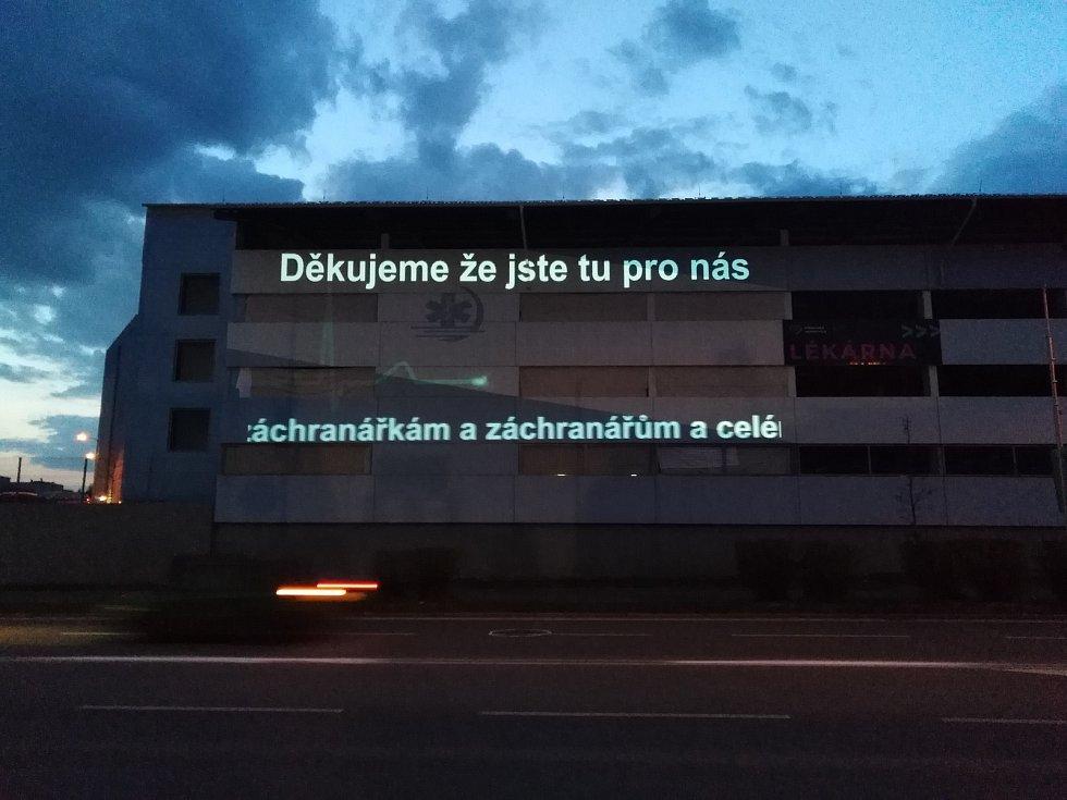 Poděkování zdravotníkům Klatovské nemocnice.
