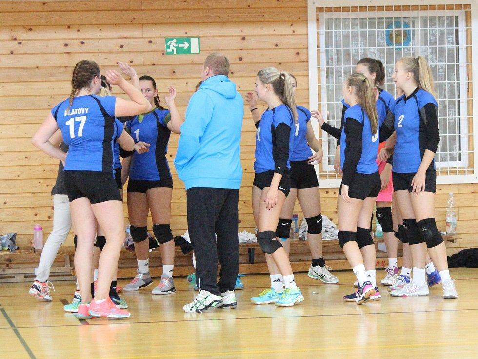 1. liga juniorek 2017/2018: Klatovy (modré dresy) - ZŠ Mikulova