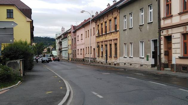 Kollárova ulice v Klatovech.