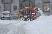 Sníh v noci na 17. ledna zasypal Klatovsko