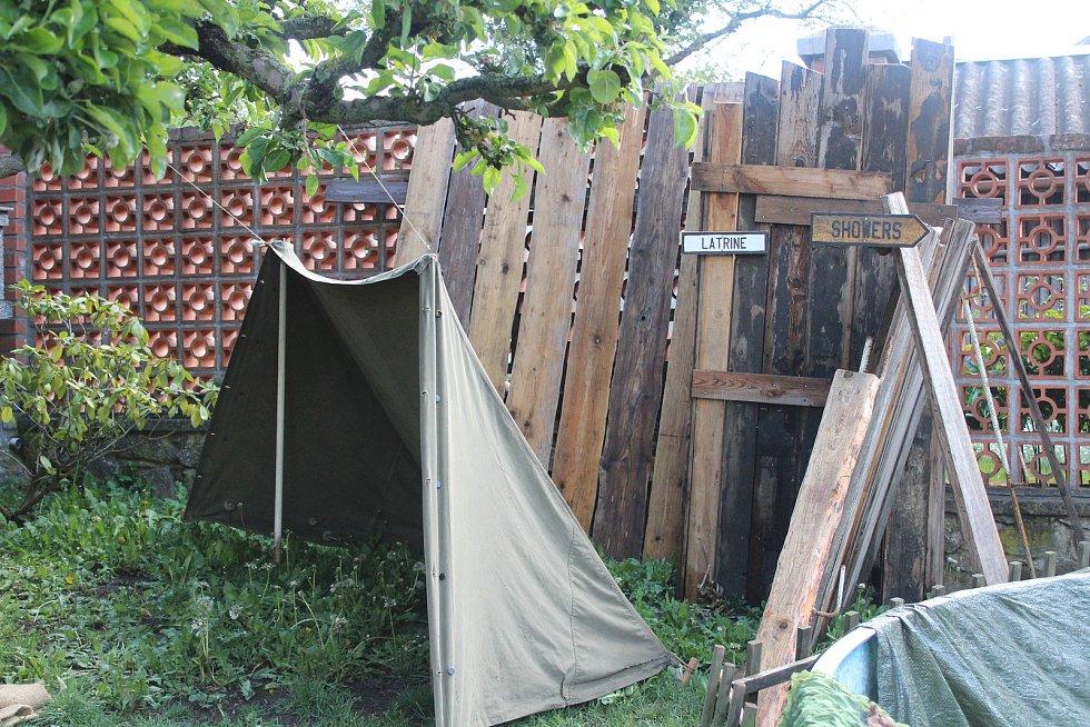 Dobový kemp amerických vojáků v Klatovech.