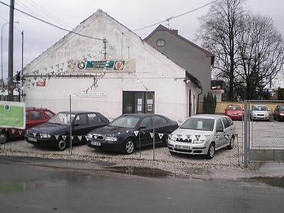 Místo , kde by měla být  v Horažďovicích  postavena nová čerpací stanice.