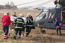 Srážka dvou osobních aut v Horažďovicích