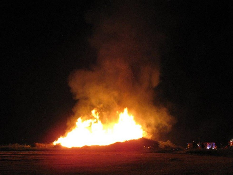 Požár u Beňov.