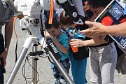 Na náměstí Míru v Klatovech byly k vidění různé experimenty. Celodenní program Dne vědy a techniky byl určený pro všechny věkové kategorie.