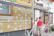 Opravy domu v Sušici
