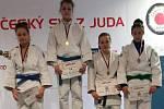 Závodníci z Judoclubu Sušice na závodě Českého poháru v Jablonci.