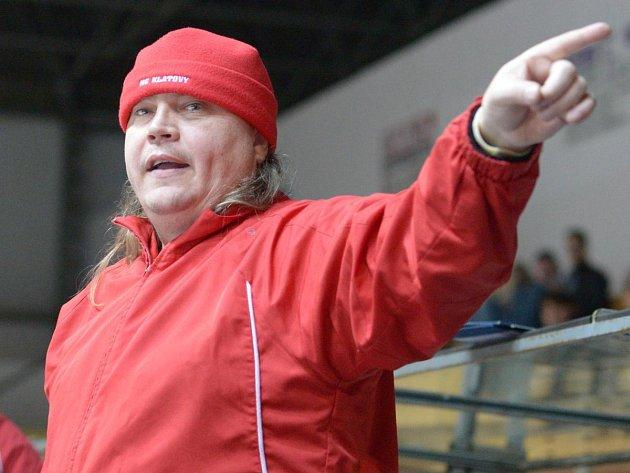 Trenér SHC Klatovy Radek Mužík.