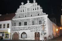 Bývalá lékárna v Sušici na náměstí.