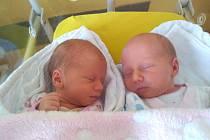 První narozená dvojčátka v Klatovské porodnici v roce 2020.