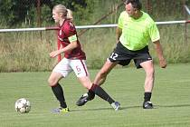 Exhibiční fotbalové utkání výběru Startu Luby a ligového týmu žen AC Sparta Praha skončilo remízou 3:3.