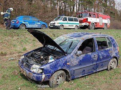 Nehoda u ČOV v Klatovech.