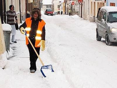 Úklid sněhu v Klatovech