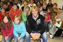 Jakub Vágner besedoval na základní škole v Nalžovských horách.