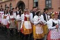 Tradiční staročeská svatba v Plánici 13. 2. 2010.