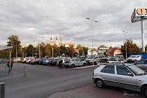 Úpravy u Lidlu v Klatovech.