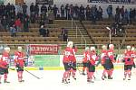 2. liga 2016/2017 - play-off: SHC Klatovy (červené dresy) - HC Lední Medvědi Pelhřimov 7:4