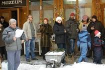 Občané Rabí se sešli na vánočním setkání.