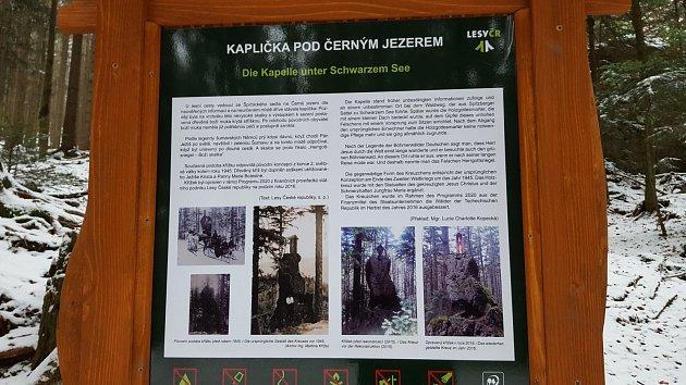 Boží muka Herrgottsriedel mezi špičáckým sedlem a Černým jezerem
