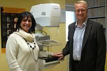 Nový mammograf v klatovském mammocentru
