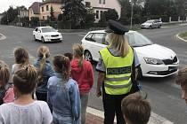 Preventivní akce policie v Klatovech.