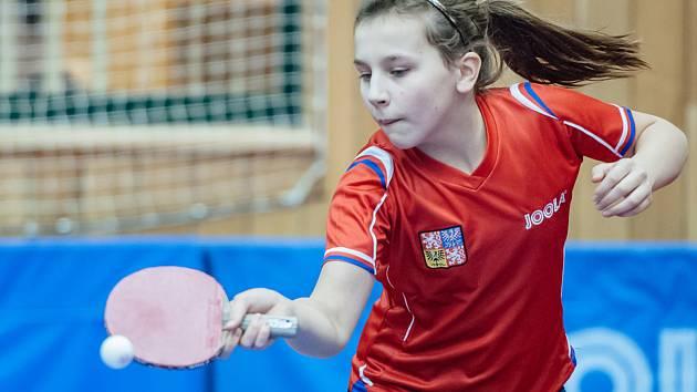 Stolní tenistka Helena Sommerová ze Sušice.