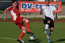 Přípravný zápas: Blatná - Klatovy (v červeném) 1:6.