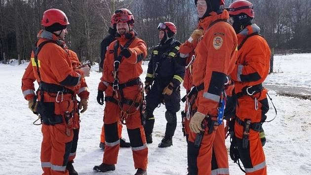 Cvičení záchranářů na Špičáku 2016