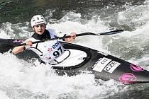 Karolína Galušková ve finálové jízdě na mistrovství světa ve Francii