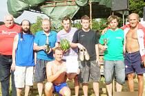 Vítězné mužstvo turnaje ve Zborovech – OP SLAVIA v Klatovech.